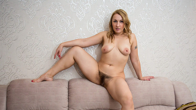 Blonde milf gets horny