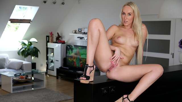 Natural blonde milf